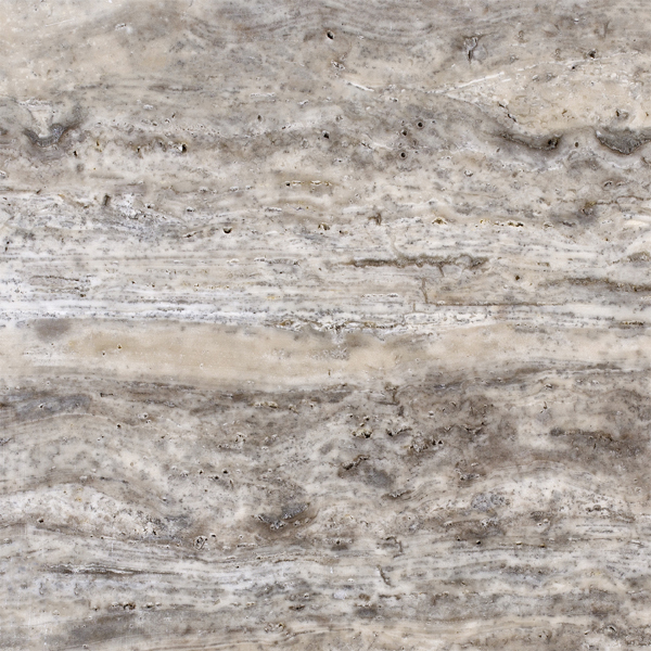 Silver Travertine Vein Cut